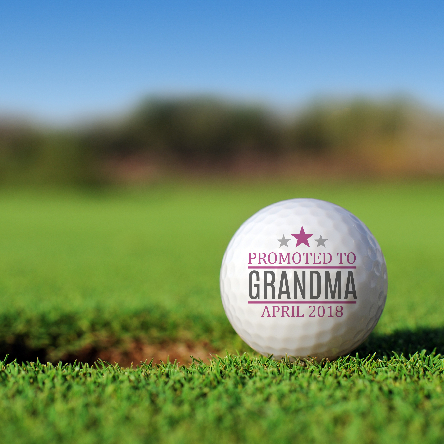 Personalized Promoted to Grandpa Golf Ball Set Golfballs | Personalized Golf Balls