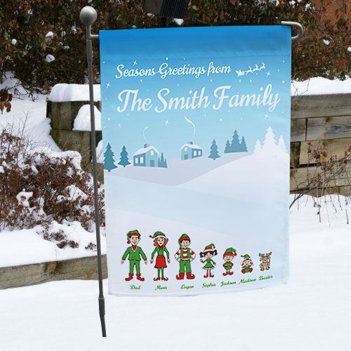 Personalized Holiday Character Garden Flag 83097582X