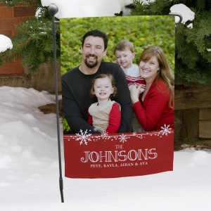 Personalized Christmas Photo Garden Flag