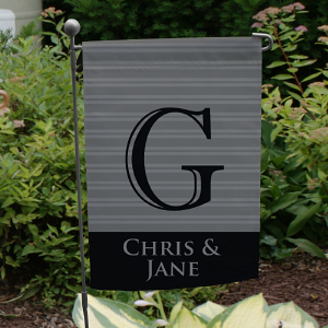 Personalized Family Initial Garden Flag