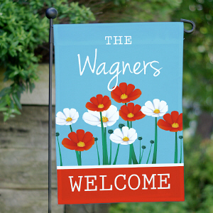 Personalized Summer Garden Flag