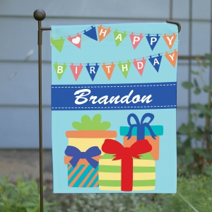 Birthday Boy Garden Flag