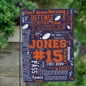 Football Word-Art Garden Flag