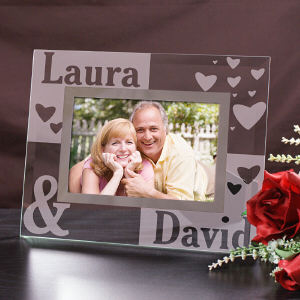 Just the Two of Us Glass Picture Frame