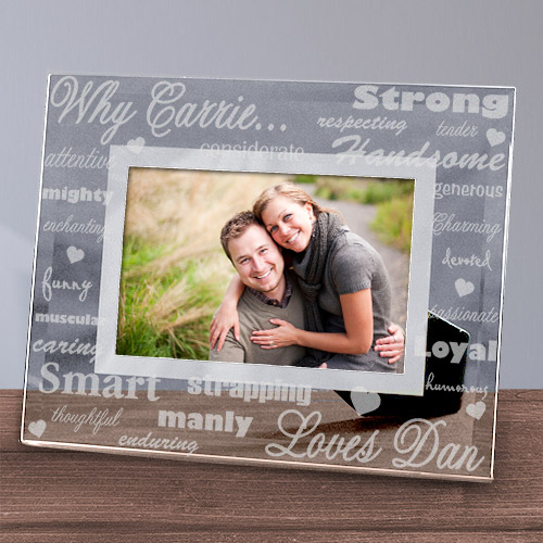 Engraved Why I Love You Glass Picture Frame | Personalized Picture Frames
