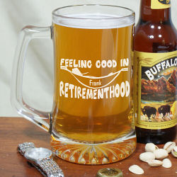 Retirement Glass Beer Mug