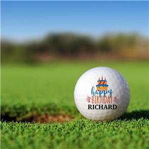 Personalized Cake Golf Ball Set Golfballs | Personalized Golf Balls