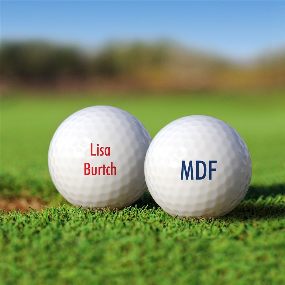 Custom Golf Balls | Add Your Own Message Golf Balls