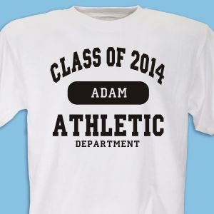 Class of ... Athletic Graduation Personalized T-Shirt