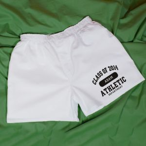 Class of 2014 Athletic White Personalized Boxer Shorts