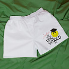 Off to the Real World Athletic White Personalized Boxer Shorts