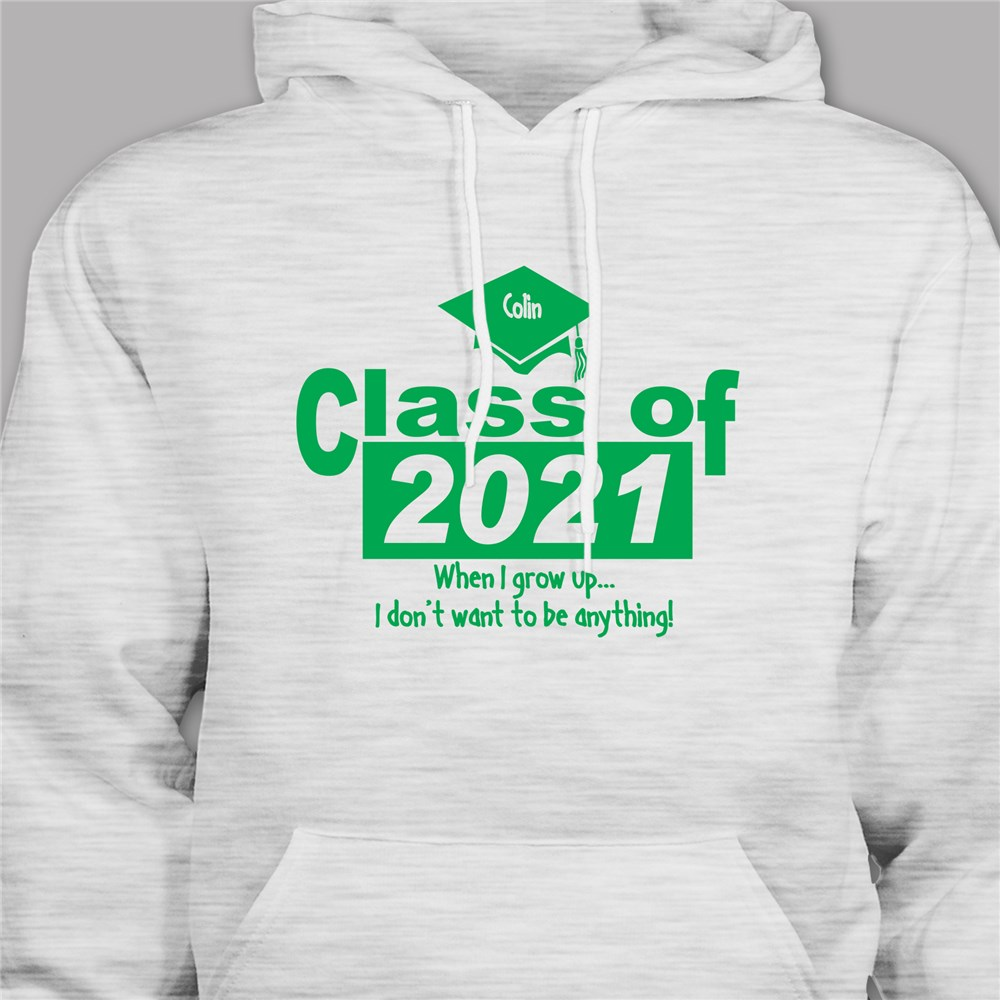 Personalized When I Grow Up Graduation Hooded Sweatshirt | Personalized Grad Gifts