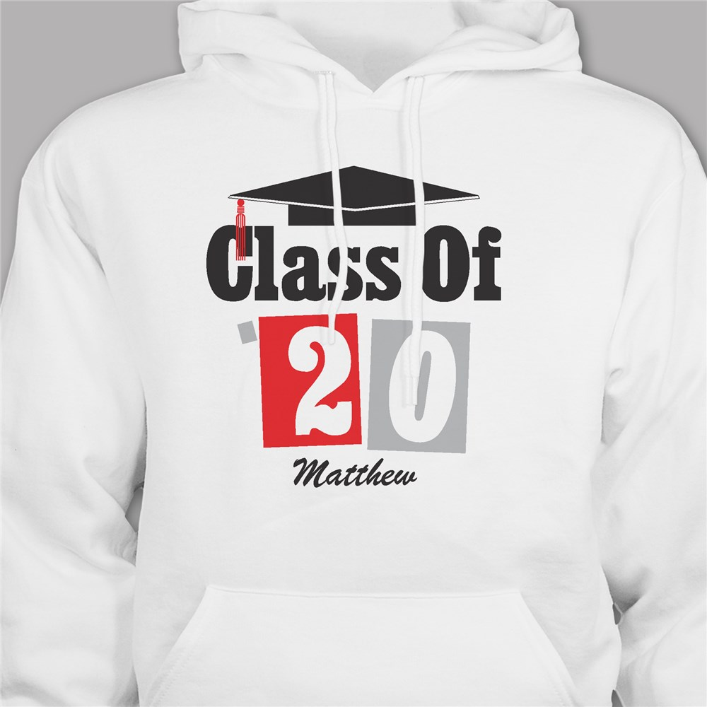Personalized Graduation Hooded Sweatshirt | Gifts For Grads 2019