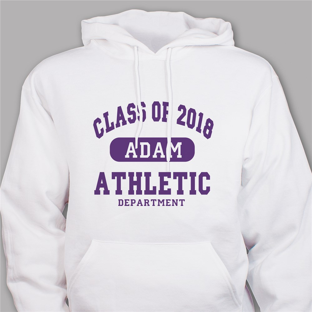 Personalized Class of...Athletic Graduation Hooded Sweatshirt H51702X