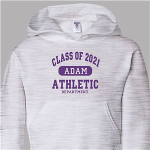 Personalized Class of...Athletic Graduation Hooded Sweatshirt | Graduation Shirts 2019