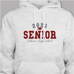 Personalized Senior Hooded Sweatshirt with Graduation Year