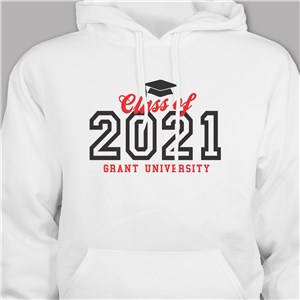 Personalized Graduation Year Hooded Sweatshirt