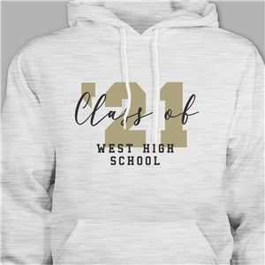 Personalized Class Of Hooded Sweatshirt