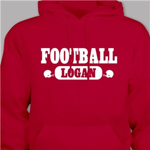 Personalized Football Hooded Youth Sweatshirt