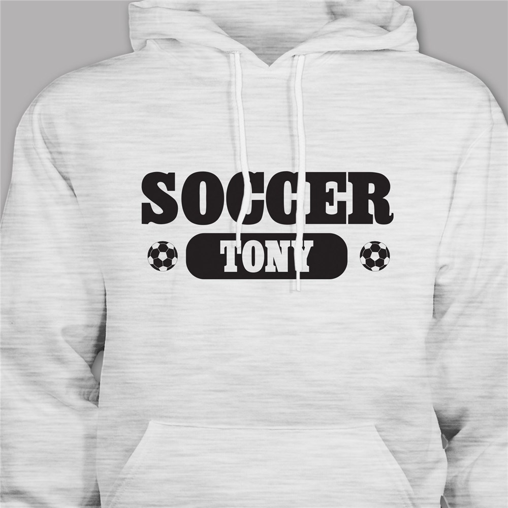 Personalized Soccer Hooded Youth Sweatshirt