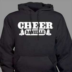 Personalized Cheer Hooded Youth Sweatshirt