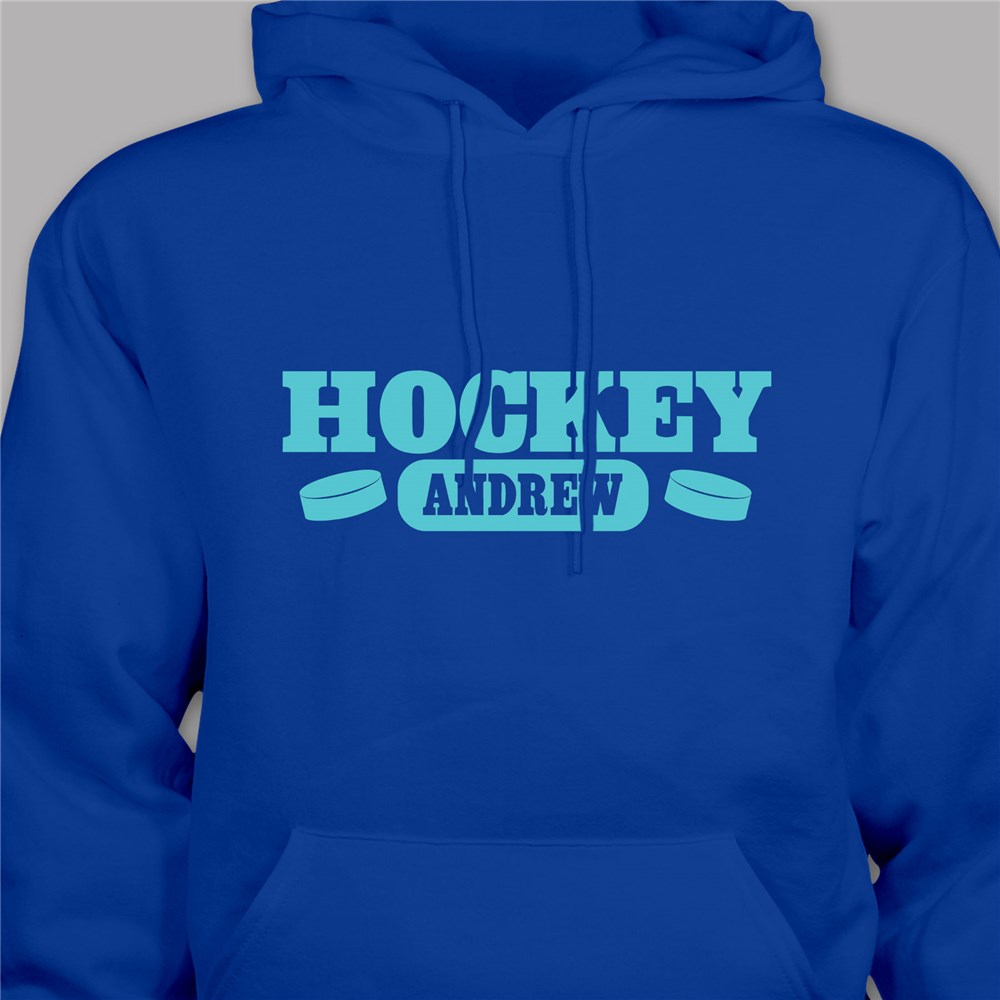 Personalized Hockey Hooded Youth Sweatshirt H53432x