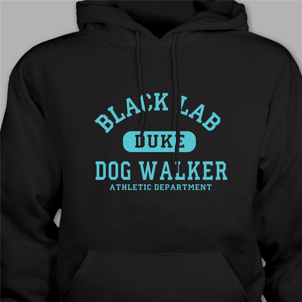 Personalized Dog Walker Athletic Dept. Hooded Sweatshirt H56534X