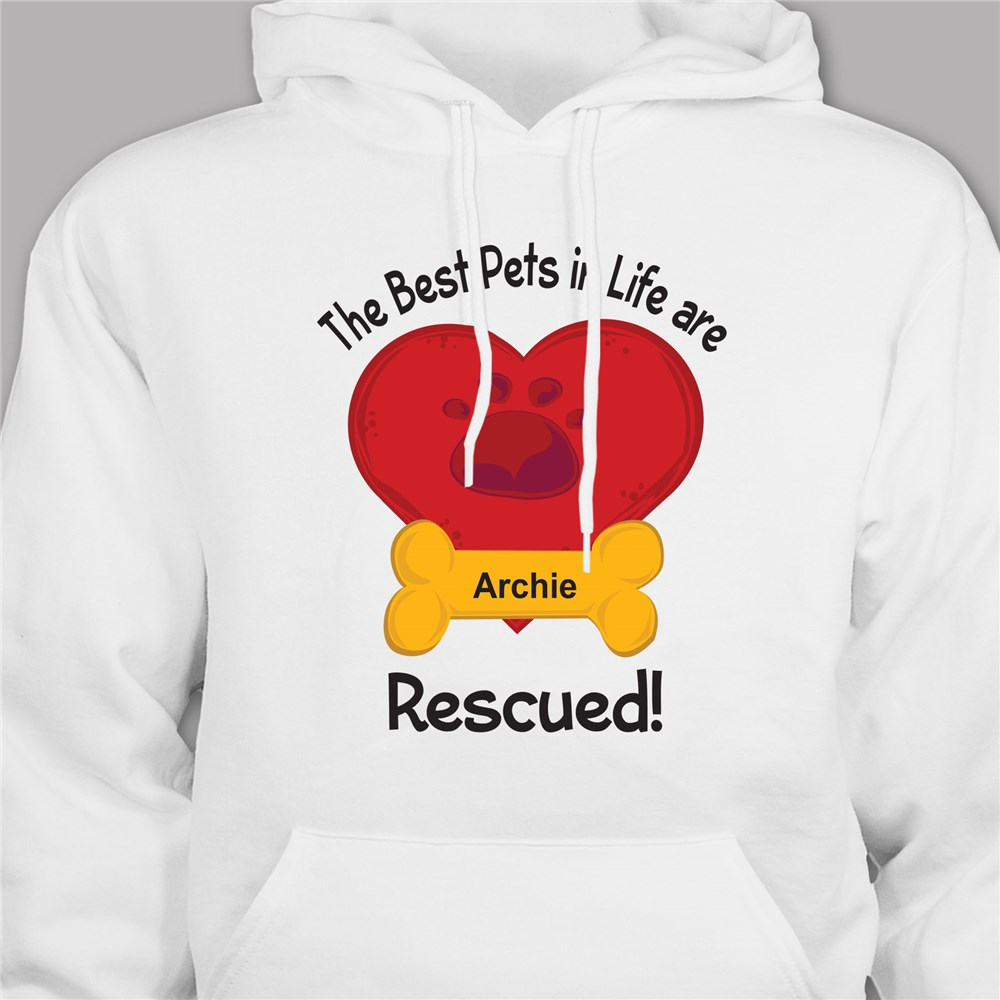 Personalized Best Pets are Rescured Hooded Sweatshirt H56634X