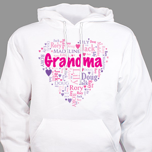 Grandma's Heart Word Art T-Shirt