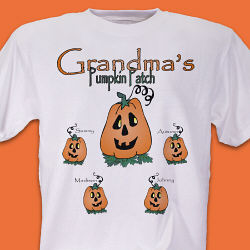 Pumpkin Patch Personalized T-shirt