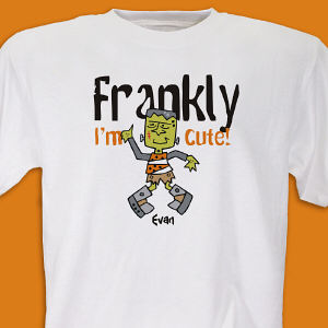 Frankly I'm Cute  Personalized Halloween Youth T-shirt