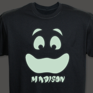 Personalized Glow In The Dark Face T-Shirt