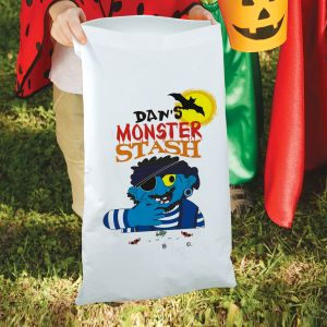 Monster Stash Trick or Treat Sack | Personalized Halloween Bags