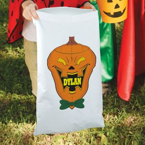 Personalized Jack O'Lantern Trick or Treat Bag
