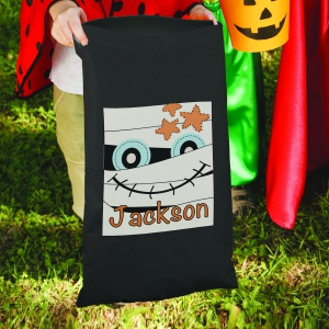 Mummy Personalized Trick or Treat Sack | Personalized Trick-Or-Treat Bags