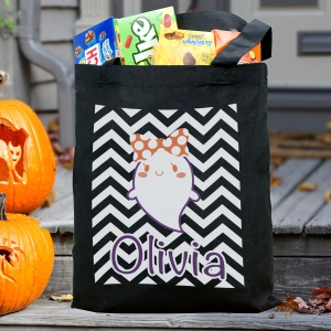 Personalized Trick or Treat Tote Bag