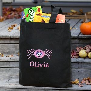 Embroidered Spider Trick or Treat Bag