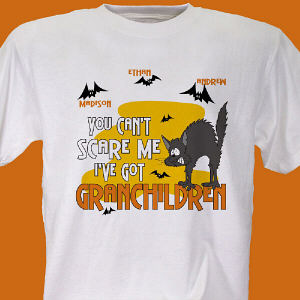 Can't Scare Me Personalized Halloween T-Shirt