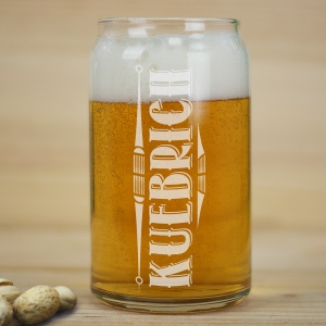 Engraved Any Name Beer Glass