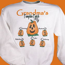 Pumpkin Patch Personalized Sweatshirt