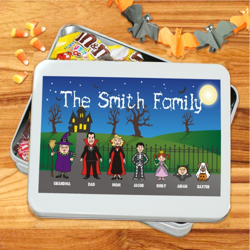 Personalized Halloween Family Candy Bowl | Halloween Gifts