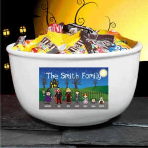 Personalized Halloween Family Candy Bowl