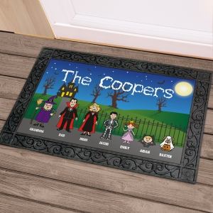 Halloween Character Welcome Doormat