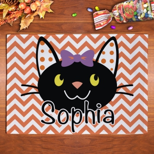 Personalized Halloween Cat Placemat