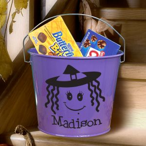 Personalized Purple Halloween Bucket V78594PR