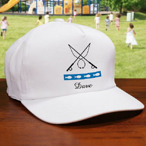Gone Fishing Personalized Hat