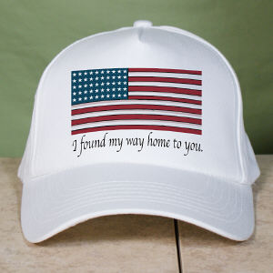 American Flag Personalized Military Hat