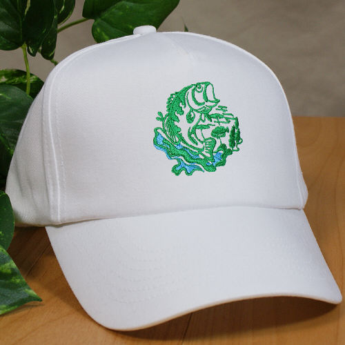 Embroidered Bass Fishing Hat 842846X