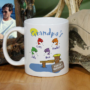 Personalized Grandpa's fishing Buddies coffee mug