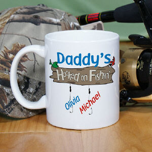 Hooked on Fishing Coffee Mug